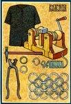 Панцирь чешуйчатый. на одной странице.  Шлем с бармицей.  Русское оружие.  Кольчуга (схема изготовления) .