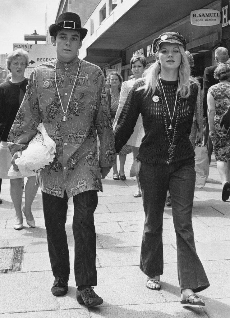 Hippies. Лондонские хиппи