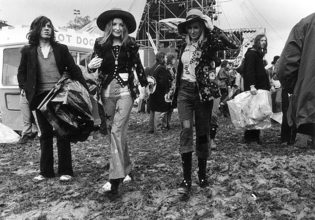 Hippies.Bardney Pop Festival, 1972.
