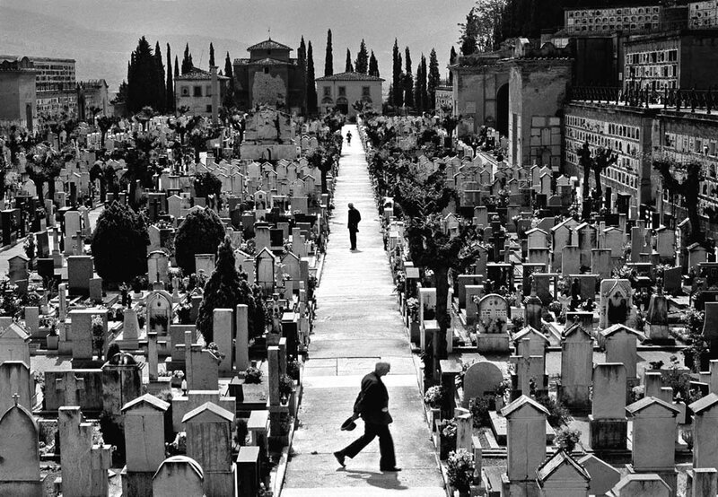 by George Krause.Cemetery Path.Italy,1967