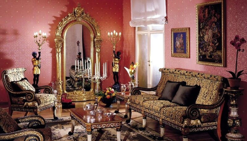 Классическая мебель, интерьер