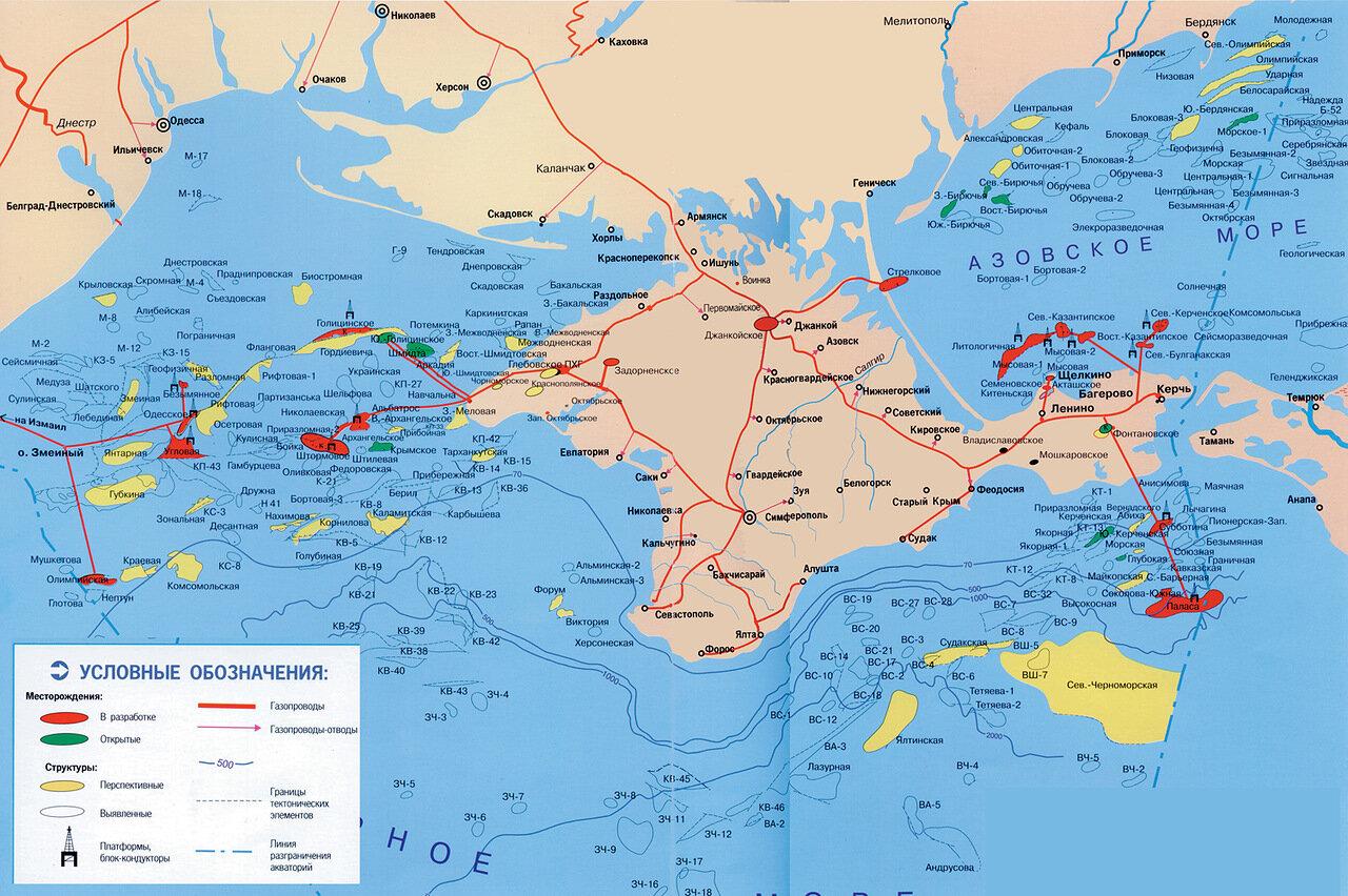 схема прохождения южного потока по морю