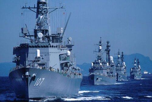 Флот Сил самообороны Японии.