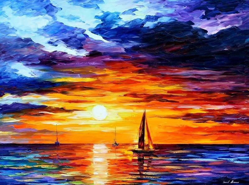 Картинки рисунок, море, корабль.