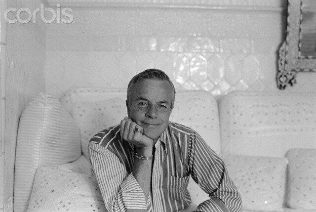 Director Franco Zeffirelli in His Living Room