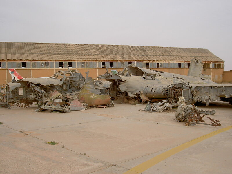 "Останки B-24 ""Lady Be Good"" на авиабазе Jamal Abdelnasser Air Force Base, Ливия"