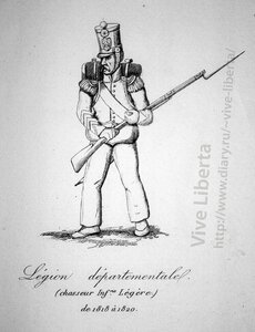 департаментский легион, стрелок легкой пехоты 1818-1820