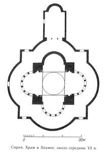 План храма в Апамее, Сирия