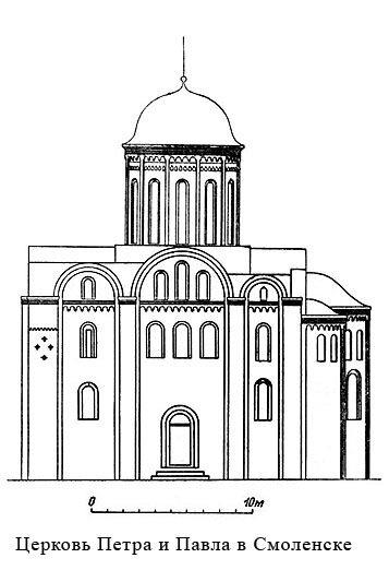 Церковь Петра и Павла в Смоленске, фасад