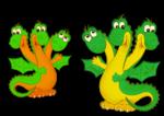Веселые драконы - дракончики на 2012 год с прозрачным фоном.