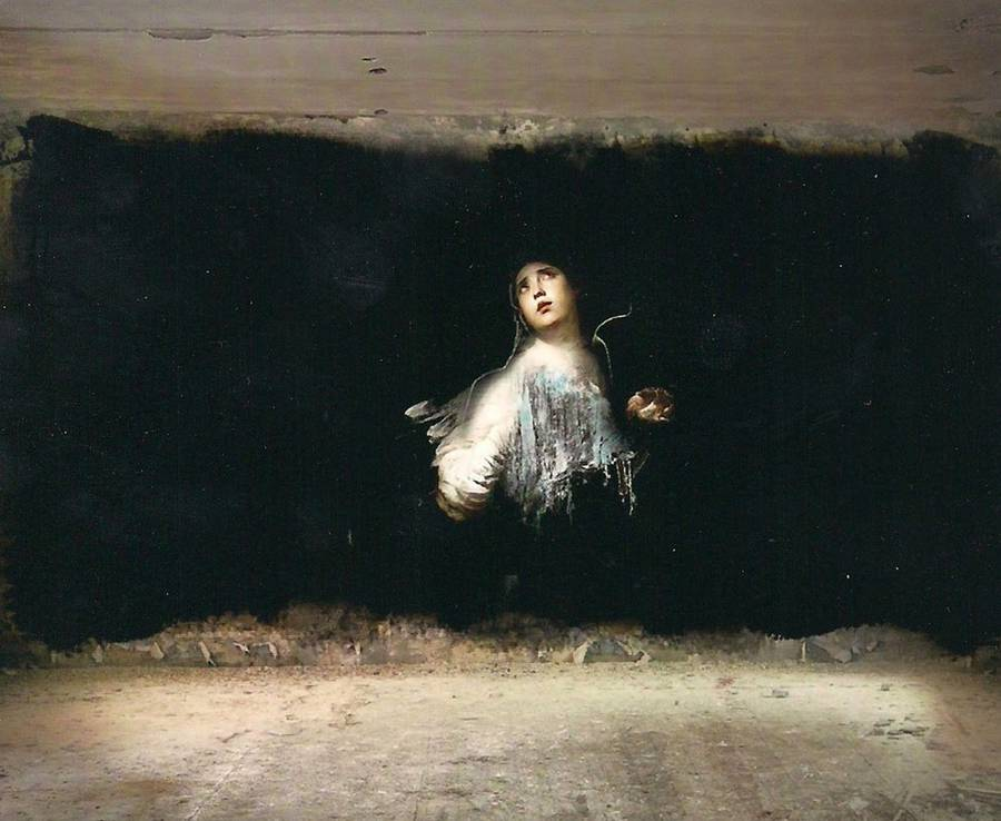 Classical Paintings in Abandoned Buildings