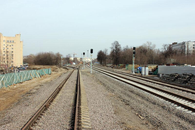 Бывшие входные чётные светофоры по станции Ростокино
