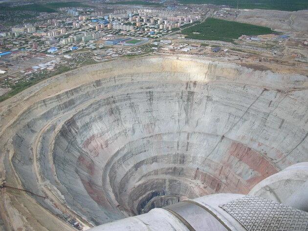 Кимберлитовая алмазная трубка «Мир». Россияborder=