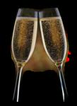 Шампан�кое,бокалы в пнг