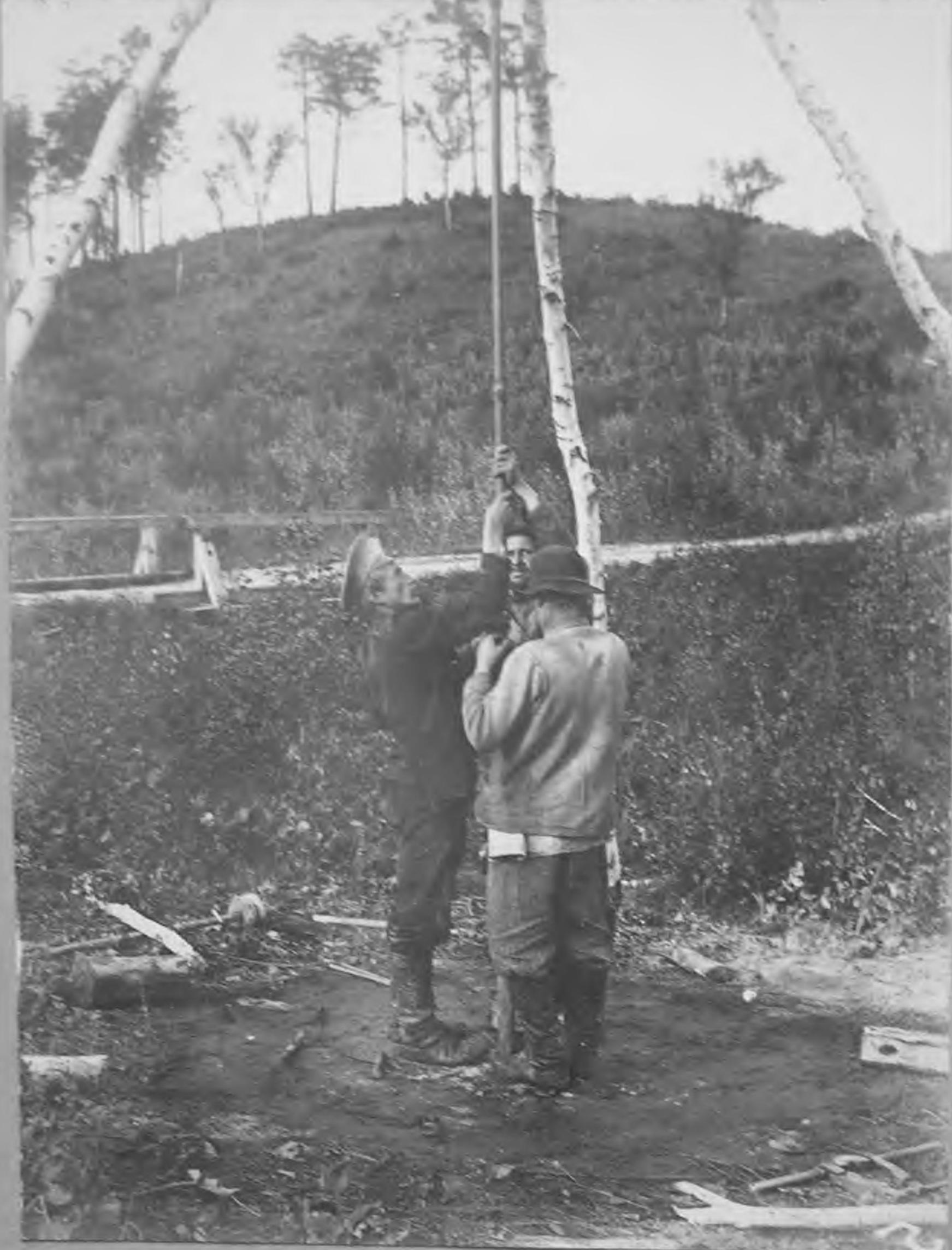 Буровые изыскания воды в 1912