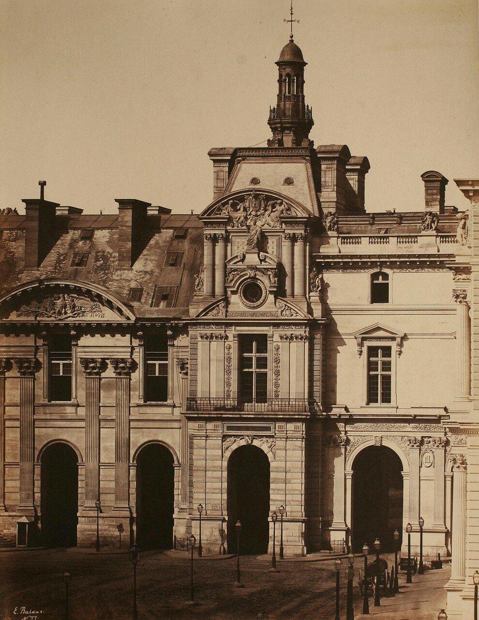 1850-е. Фасад Лувра