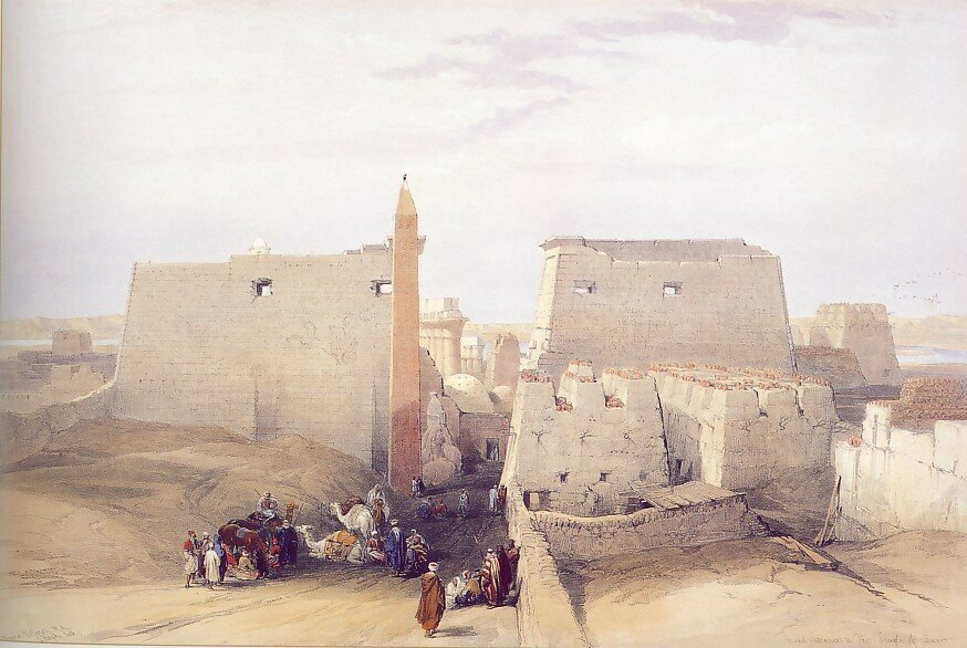 David Roberts - Grand Entrance to the Temple of Luxor - 31438-3606.jpg