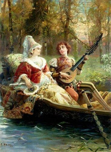 Итальянский художник Cesare Augusto Detti (1847-1914)