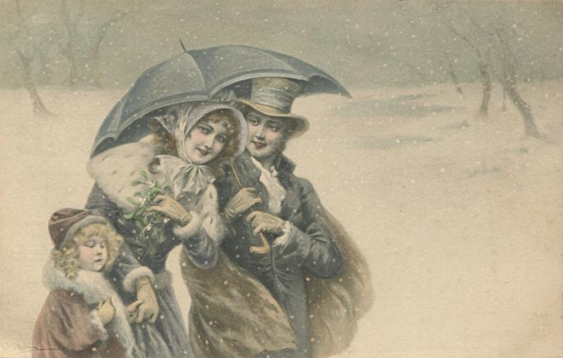 Винтажные старинные открытки почтальон, картинки доброе утро