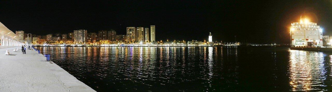 Малага. Панорама круизного порта
