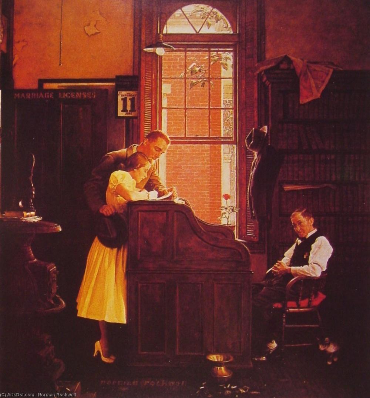 Вывеска на двери «Разрешение на бракосочетание» начинает рассказывать эту историю. Эта сцена полна к