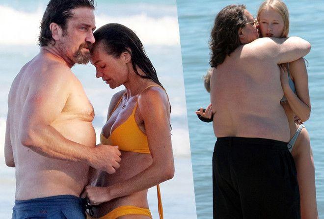 Звездные пары,в которых у женщины подтянутая фигура,а у мужчины расплывшаяся (21 фото)