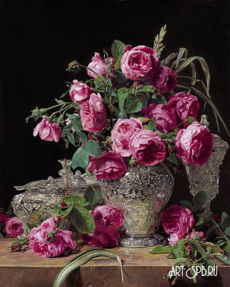 4538.jpgНатюрморт с розами. Фердинанд Георг Вальдмюллер.jpg