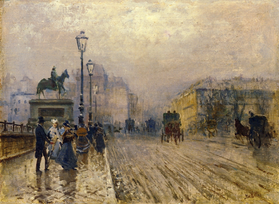 5 Giuseppe de Nittis     Rue de Paris with Carriages.jpg