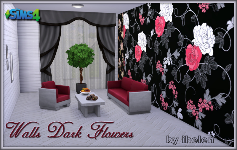 Walls Dark Flowers by ihelen