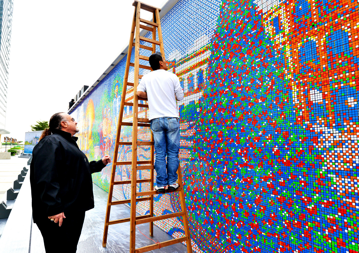 Largest Rubik's Cube Mosaic Ever Created - Cube Works Studio