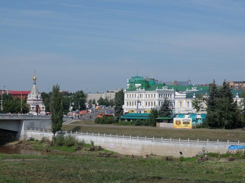 Омск - Вид на Любинский проспект со стороны реки Омь