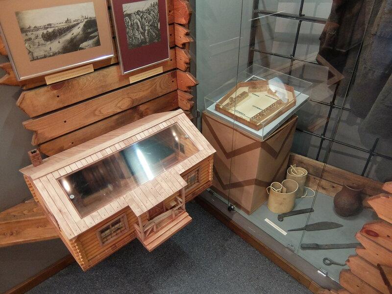 Омск - Экспозиция в музее Достоевского