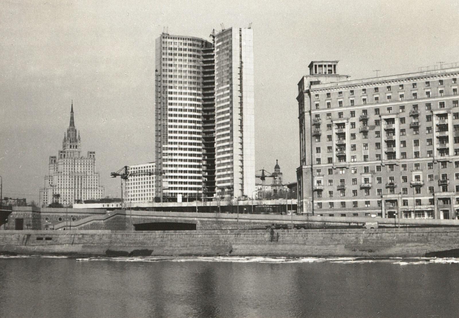 Москва. Вид с моста на Москву-реку и Новый Арбат. 1967
