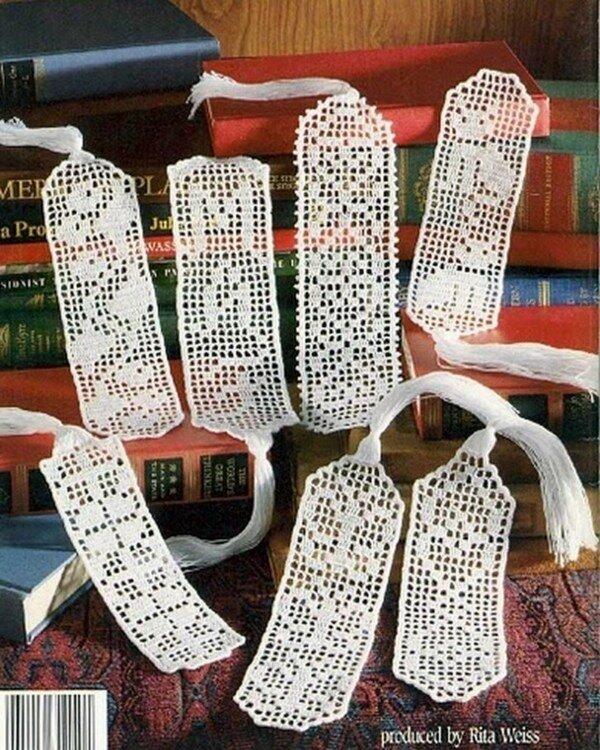 искусные плетеные книжные закладки обязательно привлекут внимание соседа.
