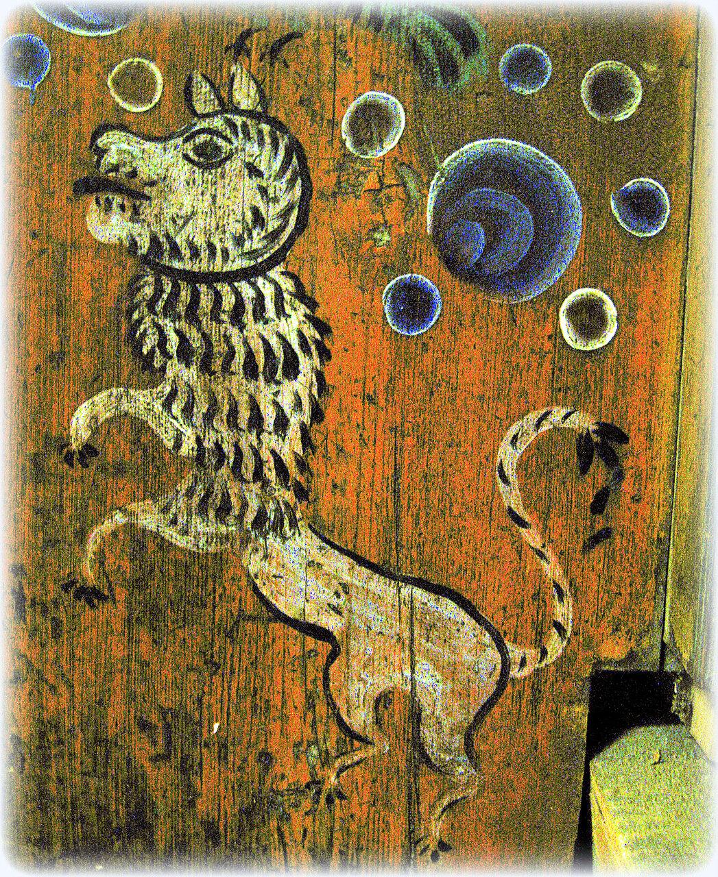 Львы в крестьянской домовой росписи