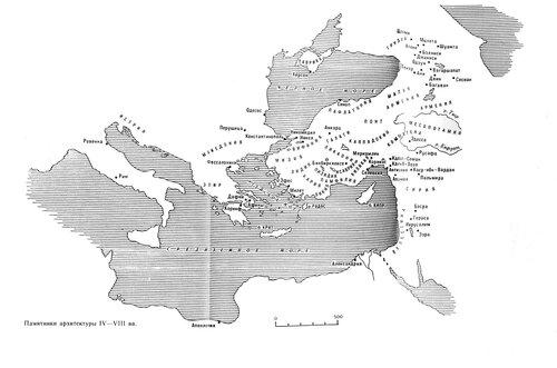 Карта Европы и Малой азии IV-VIII веков