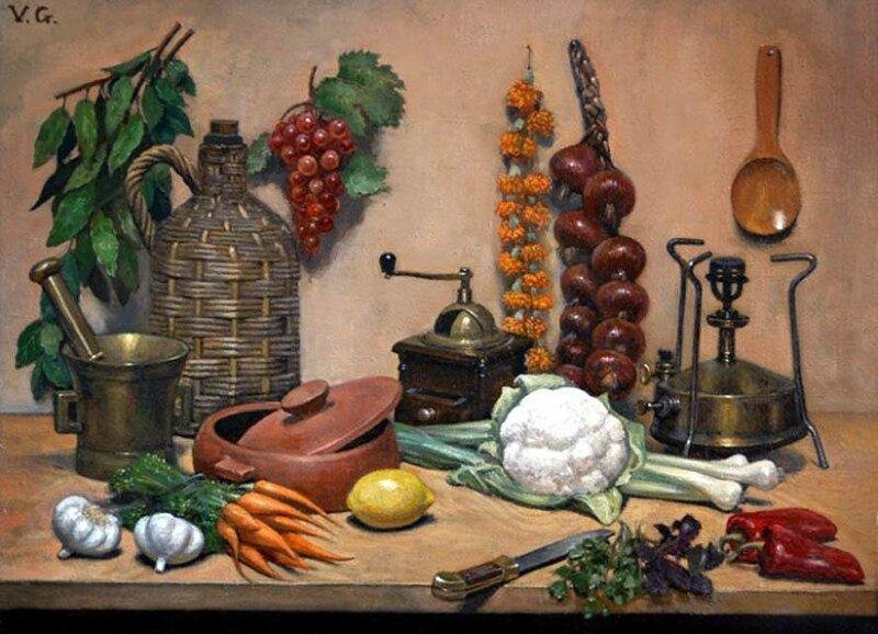 натюрморт в кухню маслом фото представить