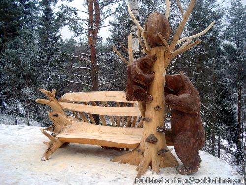 Деревянная скульптура Сергея Варагзина