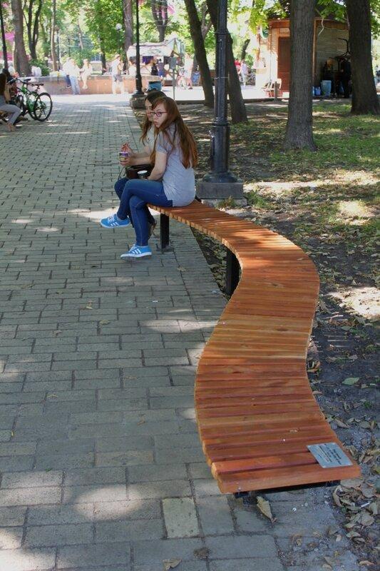 парковая скамья парк шевченко киев