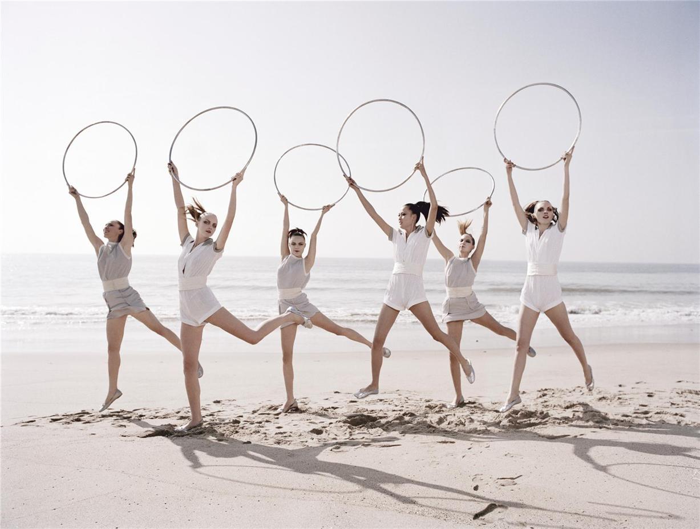 Ilona Kuodiene, Du Juan, Heather Marks, Hye-rim Park, Kira by Ellen von Unwerth in Vogue Italy 2006