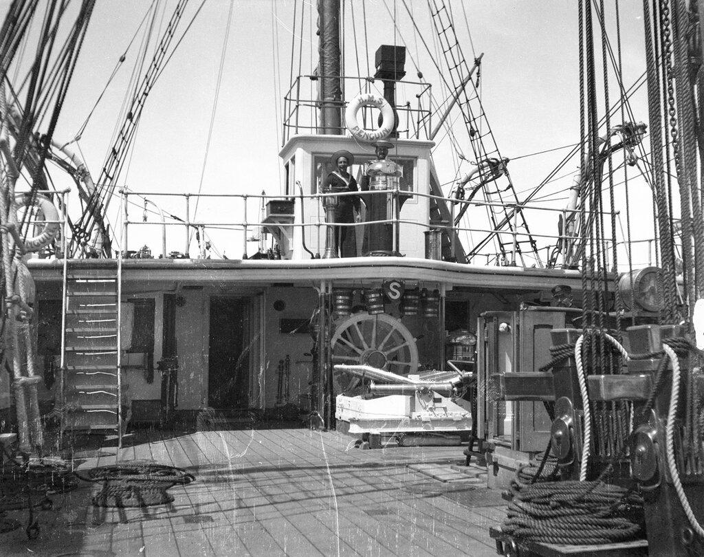 Looking aft towards the quarterdeck on HMS 'Penguin' 1902-1905