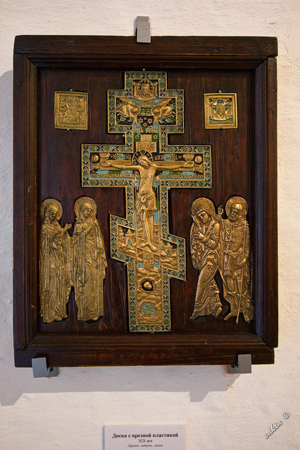 Доска с врезной пластиной из Кирилло-Белозерского монастыря