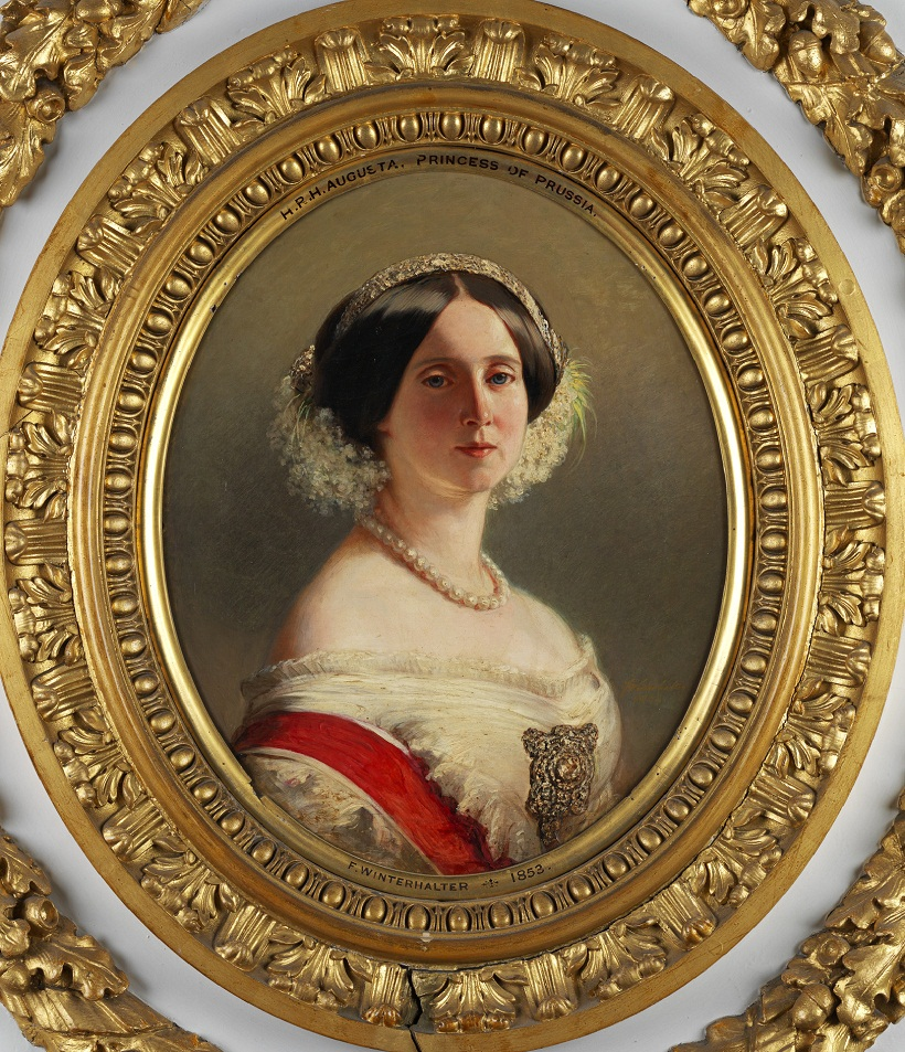 Августа Саксен-Веймар, принцесса Пруссии (1811-1890), позже королева Пруссии и немецкой императрицы  Подпись и дата 1853