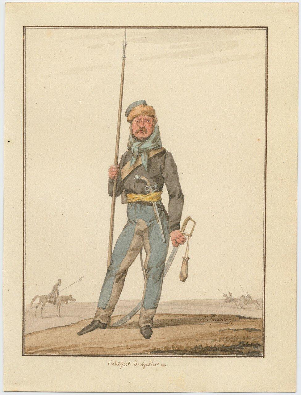 Казак иррегулярного полка 1815