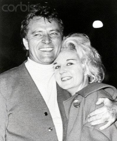 Richard Burton Hugs Wife Sybil