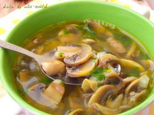 Грибной суп из шампиньонов с рецепт с фото