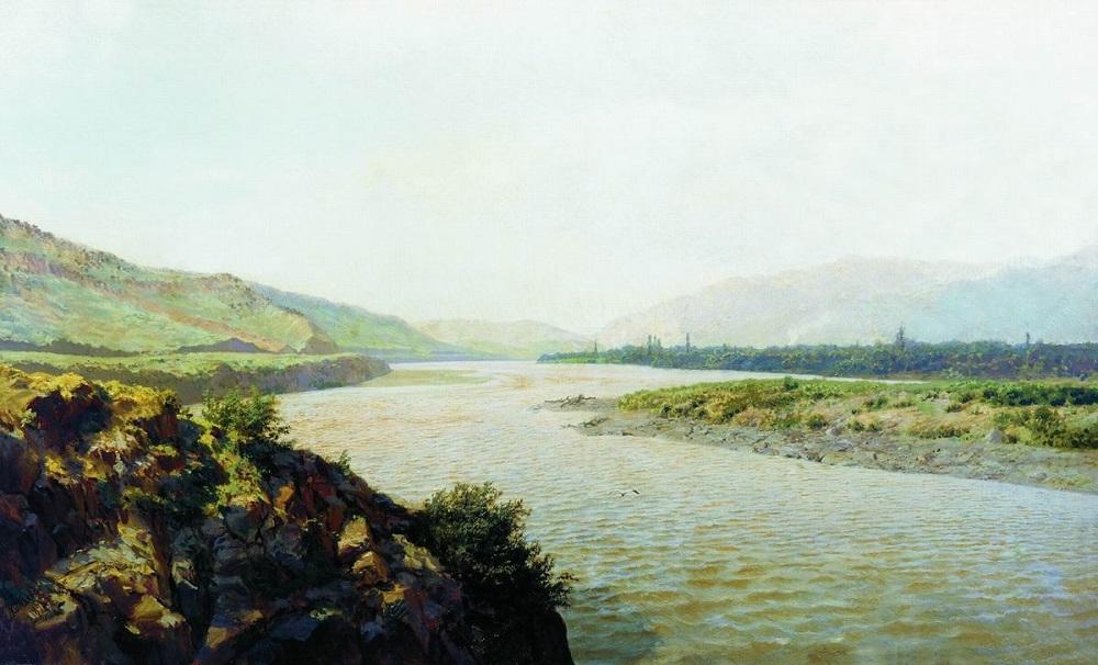 Река Кура 1892 холст масло 74.6 х 124 см Государственный музей изобразительных искусств Республики Татарстан, Казань.jpg
