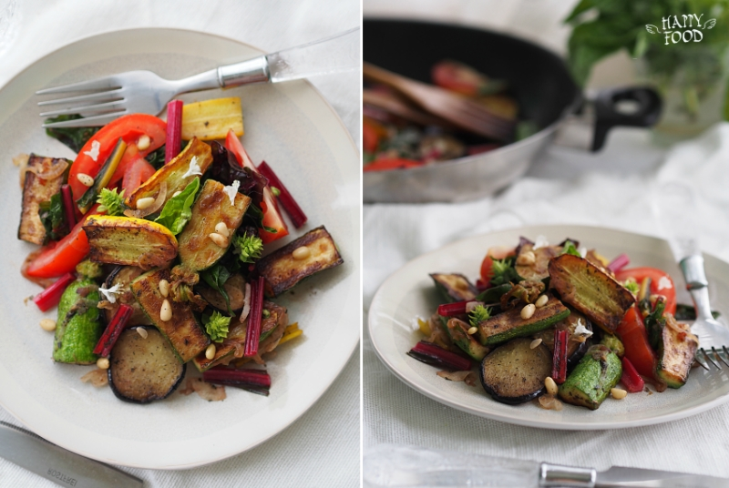 Салат из цукини, баклажанов и томатов (готовлю в посуде iCook TM)