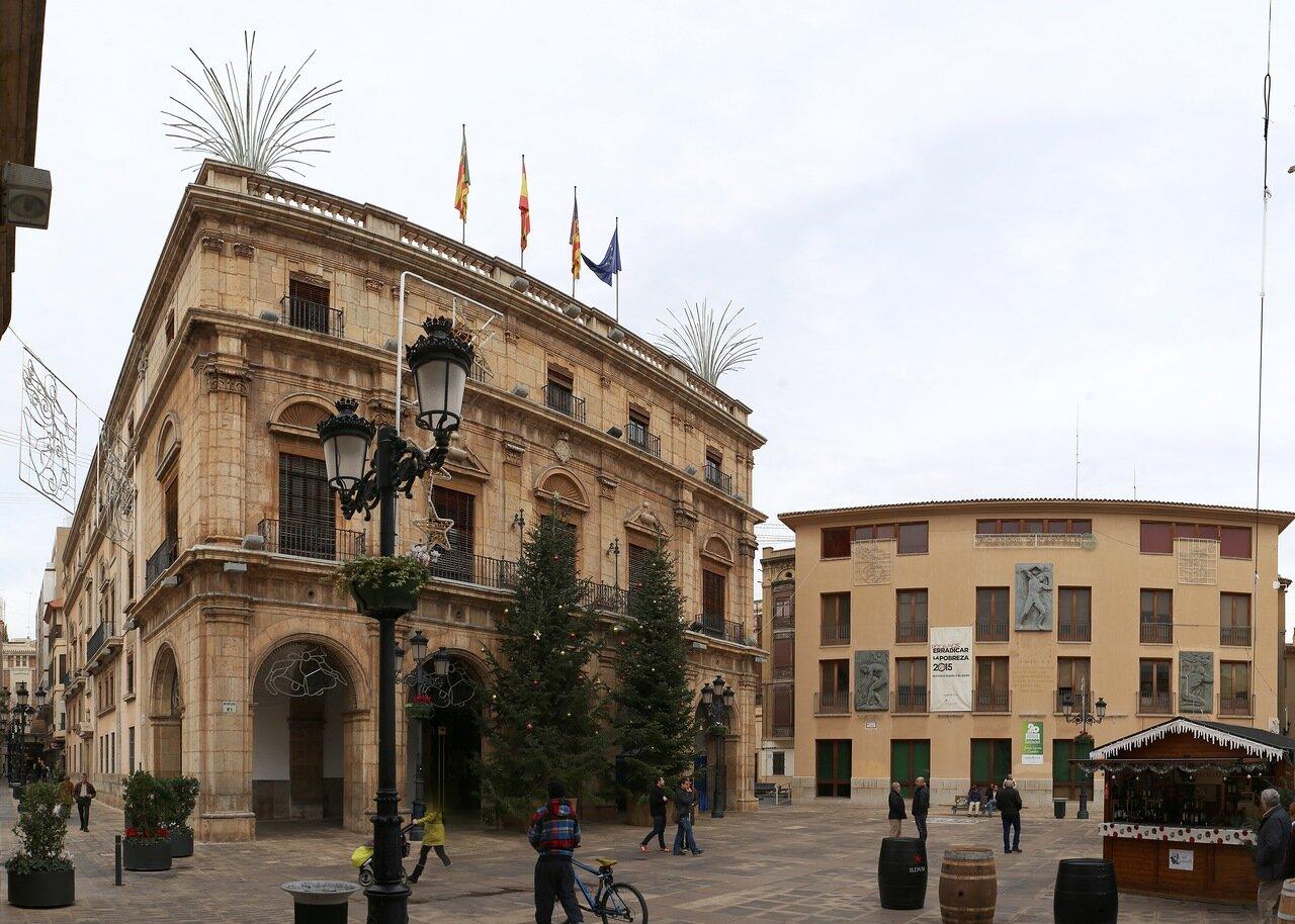 Кастельон-де-ла-Плана.   Здание муниципалитета. Palacio Municipal. Castellón de la Plana.