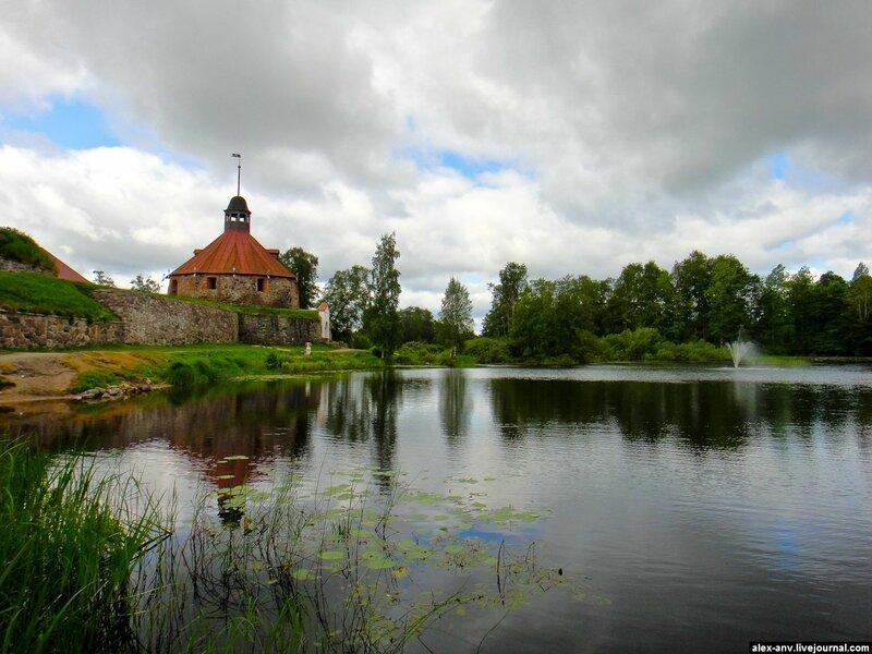 Озеро Вуокса перед крепостью